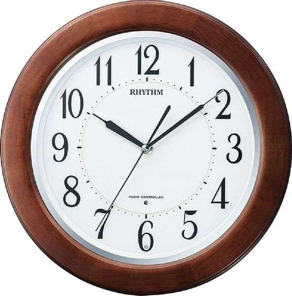 掛け時計 壁掛け時計 電波時計 シチズン リズム時計 リバライトF461SR 8MY461SR06 CITIZEN