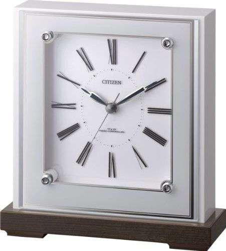 置き時計 置時計 電波時計 シチズン リズム時計 マリアージュ706 4RY706-003 CITIZEN