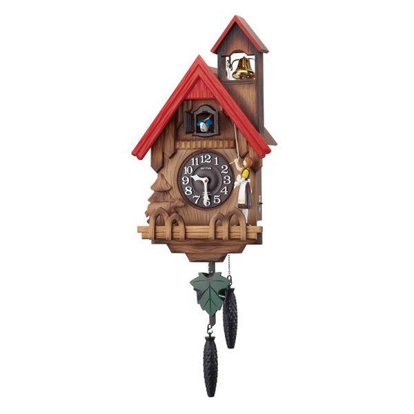 掛け時計 壁掛け時計 カッコー時計 シチズン リズム時計 カッコー時計 カッコーチロリアンR 本格的ふいご式 濃茶ボカシ木地仕上 4MJ732RH06 CITIZEN