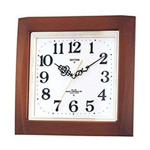 掛け時計 壁掛け時計 電波時計 シチズン リズム時計 電子音報時 ネムリーナM468R 木枠 茶色半艶仕上げ 4MN468RH06 CITIZEN