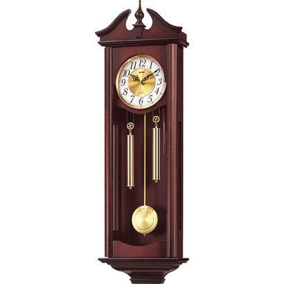 掛け時計 壁掛け時計 振り子時計 シチズン リズム時計 本格的棒リン打ち キャロラインR 木枠 4MJ742RH06 CITIZEN