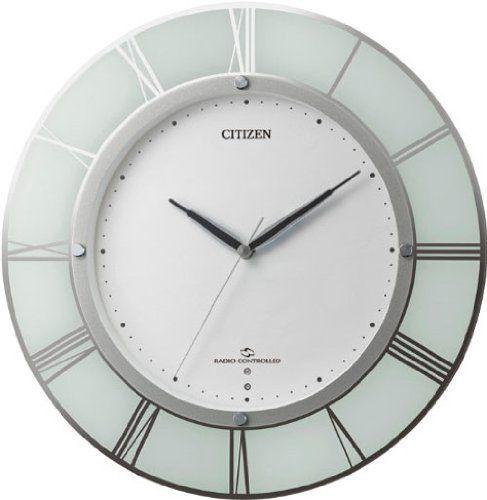 掛け時計 壁掛け時計 電波時計 シチズン リズム時計 高感度 電波長波+AM時報波受信 スリーウェイブ M830 白半艶仕上 4MY830-003 CITIZEN
