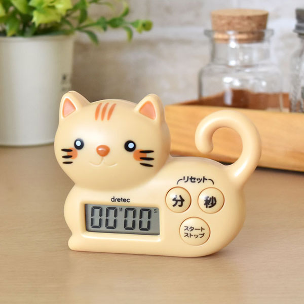 For A Timer Brown Kitchen Timer Kitchen And The Study Of The Cute Cat T 568br Dretec ドリテック