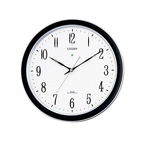 掛け時計 壁掛け時計 電波時計 シチズン リズム時計 ネムリーナM691F 屋内用 強化防滴防塵 アナログ 4MY691-N19 CITIZEN