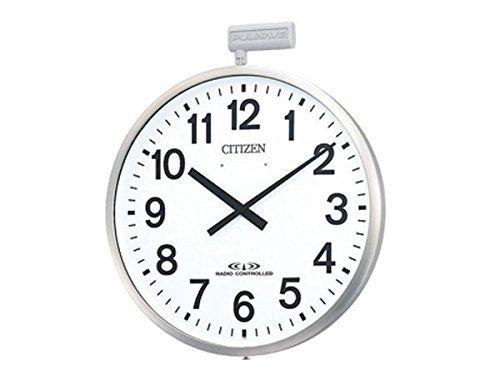掛け時計 壁掛け時計 電波時計 シチズン リズム時計 ポールウェーブSF 大型屋外用 防雨 ステンレス ポールへ取付けられる金具付き アナログ 4MY611-N19 CITIZEN