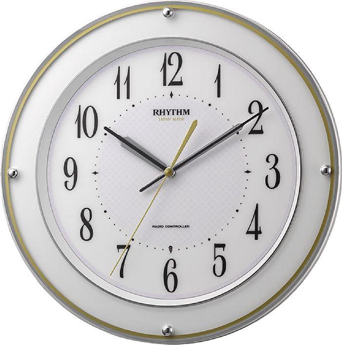 掛け時計 壁掛け時計 電波時計 シチズン リズム時計 ミレディサヤカ 日本製 連続秒針 アナログ 8MY510SR03 CITIZEN