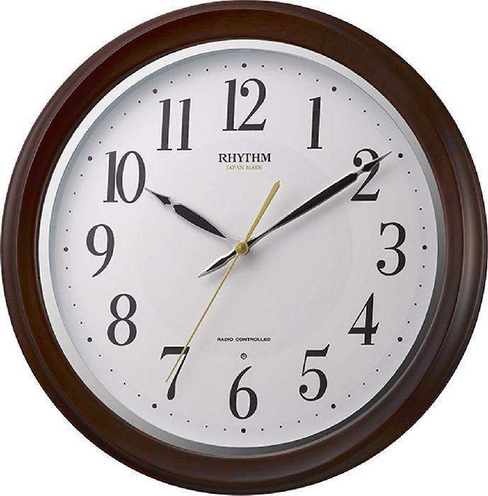 掛け時計 壁掛け時計 電波時計 シチズン リズム時計 フィットウェーブアヤ 日本製 連続秒針 アナログ 8MY512SR06 CITIZEN