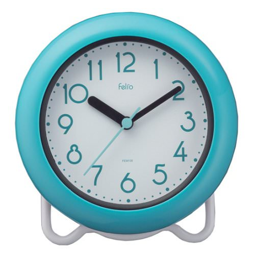 置き時計 掛け時計 定番キャンバス 置き掛け兼用 未使用 防水 防滴時計 お風呂 時計 防滴 ノア精密 FEW130 マグ MAG 置時計 バブルコート BU バスクロック
