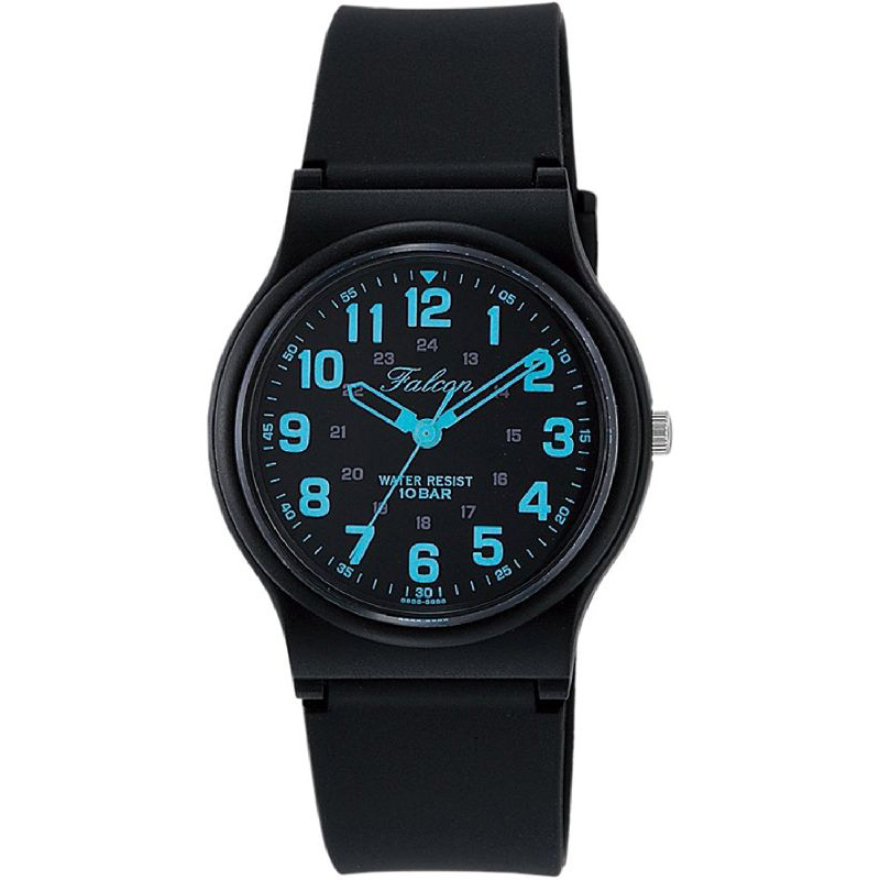 腕時計 メンズ レディース ユニセックス シチズン Q&Q ファルコン 10気圧防水 防水時計 ウレタンベルト スポーツウォッチ ブラック CITIZEN VP46-859