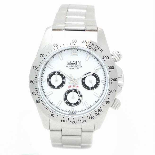 エルジン クロノグラフ メンズウォッチ 腕時計 FK1059S-W