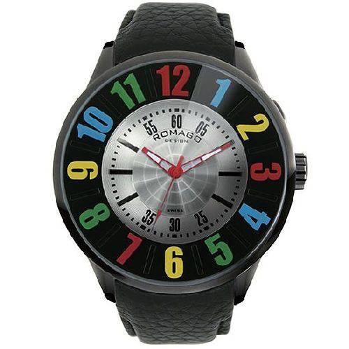 腕時計 メンズ ヌメレーションシリーズ メンズウォッチ カラフルインデックス ROMAGO DESIGN ロマゴデザイン RM007-0053ST-RD