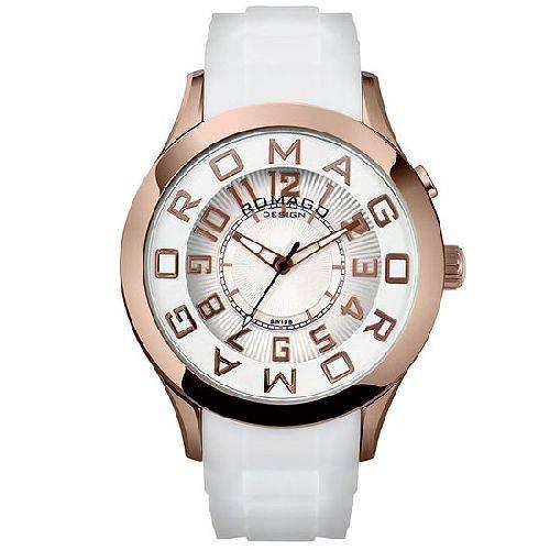 腕時計 メンズ アトラクションシリーズ メンズウォッチ ピンクゴールドxホワイト ROMAGO DESIGN ロマゴデザイン RM015-0162PL-RGWH