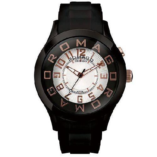 腕時計 メンズ アトラクションシリーズ メンズウォッチ ブラックxピンクゴールド ROMAGO DESIGN ロマゴデザイン RM015-0162PL-BKRG