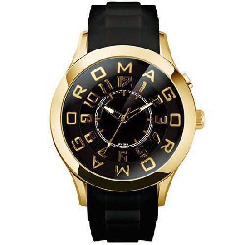 腕時計 メンズ アトラクションシリーズ メンズウォッチ ブラックxゴールド ROMAGO DESIGN ロマゴデザイン RM015-0162PL-GDBK
