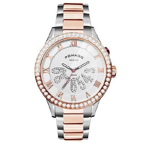 腕時計 メンズ ラグジュアリーシリーズ メンズウォッチ ピンクゴールドxブラック ROMAGO DESIGN ロマゴデザイン RM019-0214SS-RGWH