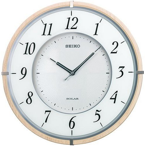 掛け時計 壁掛け時計 電波時計 セイコー SEIKO クロック 薄型24ミリ 木枠 SF501B