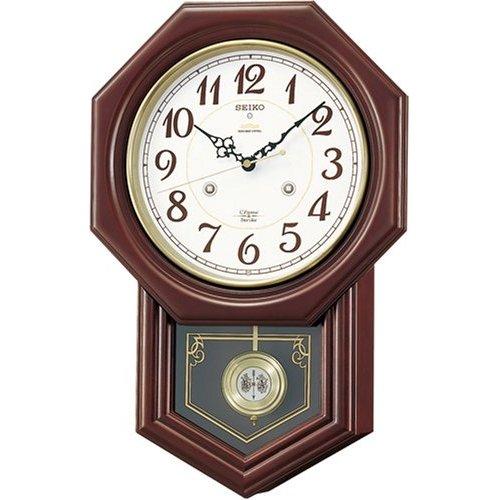 掛け時計 壁掛け時計 電波時計 セイコー SEIKO クロック チャイム ストライク ツインパ RQ205B