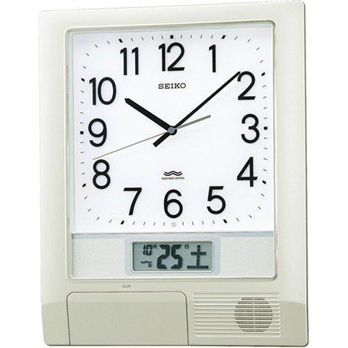 掛け時計 壁掛け時計 電波時計 セイコー SEIKO クロック プログラムクロック ツインパ PT201S