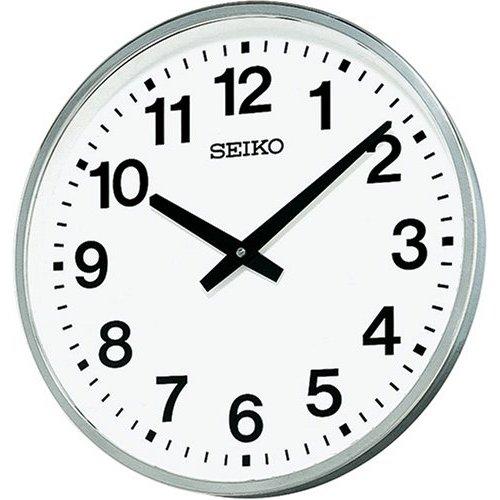 掛け時計 壁掛け時計 セイコー SEIKO クロック 屋外 防雨型 クオーツ 金属枠 KH411S