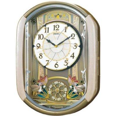 掛け時計 壁掛け時計 電波時計 セイコー SEIKO クロック ウェーブシンフォニー からくり RE567G