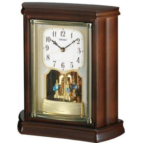 置き時計 置時計 電波時計 セイコー SEIKO クロック 木枠 BY233B
