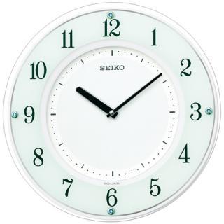 掛け時計 壁掛け時計 電波時計 セイコー SEIKO クロック ソーラープラス ソーラー 薄型 木枠 SF505W