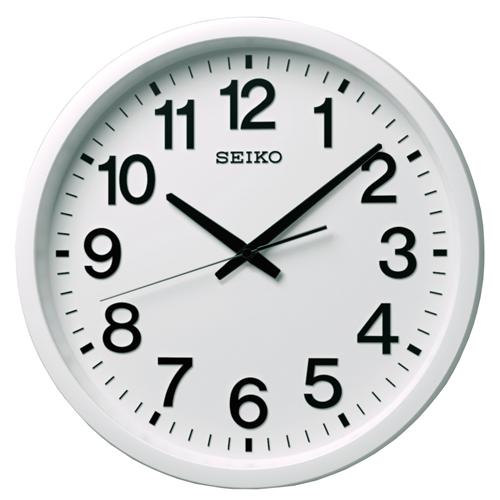 掛け時計 壁掛け時計 衛星電波時計 電波時計 セイコー SEIKO クロック 衛星アナログ オフィス向け 衛星電波 ホワイト GP202W