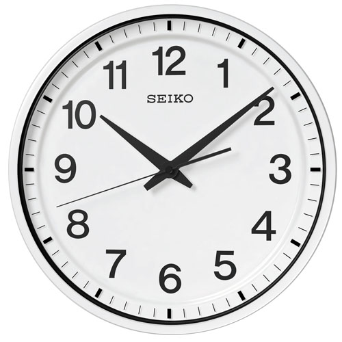 掛け時計 壁掛け時計 衛星電波時計 電波時計 セイコー クロック SEIKO オフィス 衛星電波 クロック ホワイト GP214W