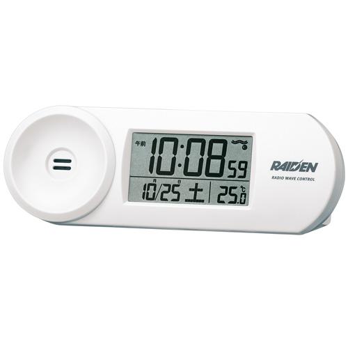 SEIKO 置時計 目覚し時計 PYXIS 目覚まし時計 置き時計 大音量 ホワイト 返品交換不可 ライデンのエントリーモデル 高価値 クロック 電子音 NR532W セイコー 電波時計