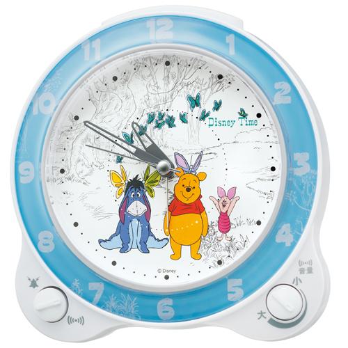 Alarm clock table clock SEIKO clock SEIKO Disney thyme Winnie-the-Pooh bell  sound bleep alarm sweep second FD462W
