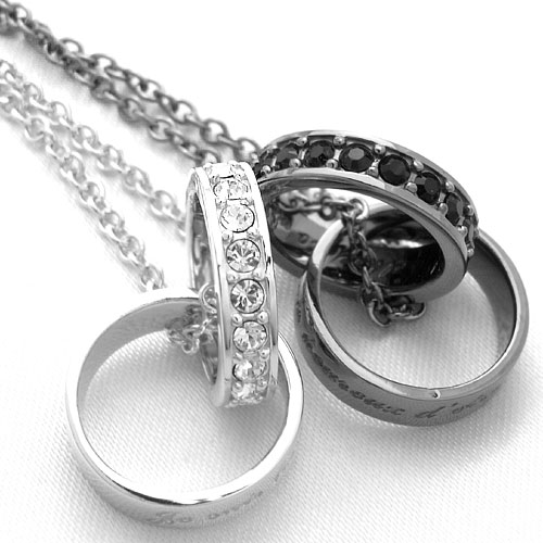 Closing toe me pair necklace Swarovski double ring necklace  SN13-113 SN13-114 Close to me c1f100b883