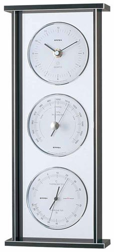 エンペックス empex 温度湿度計 置き時計 置時計 気圧計 温度計 湿度計 時計 スーパーEX ギャラリー 気象計 EX-793 シルバー empex