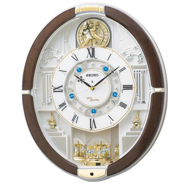 掛け時計 壁掛け時計 からくり時計 電波時計 セイコー SEIKO クロック アミューズ アナログ RE575B