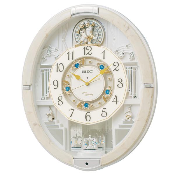 掛け時計 壁掛け時計 からくり時計 電波時計 セイコー クロック SEIKO アミューズ アナログ RE576A