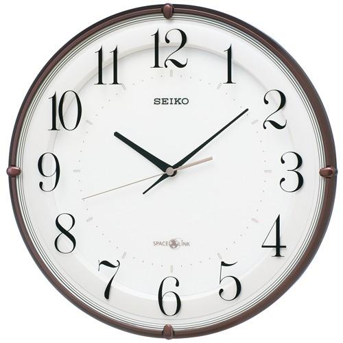 掛け時計 壁掛け時計 衛星電波時計 電波時計 セイコー SEIKO クロック 衛星 スペースリンク アナログ時計 GP216B