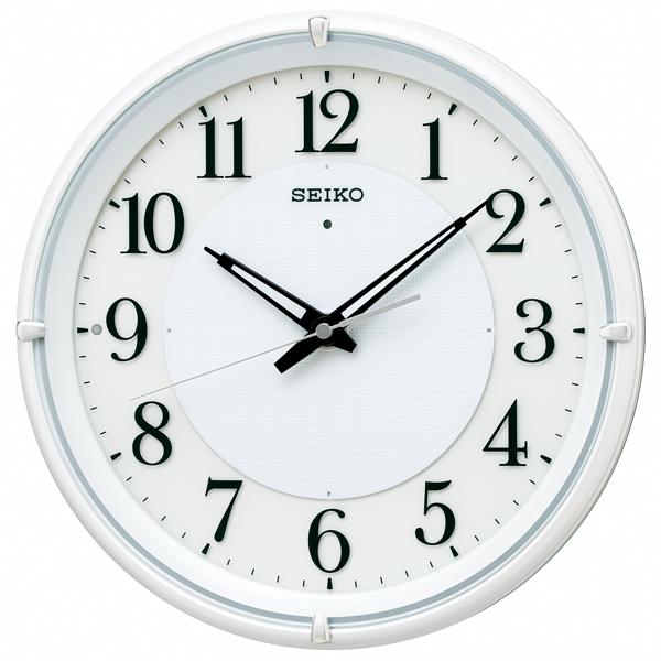 掛け時計 壁掛け時計 掛時計 電波時計 電波クロック おやすみ秒針 セイコー クロック SEIKO KX233W