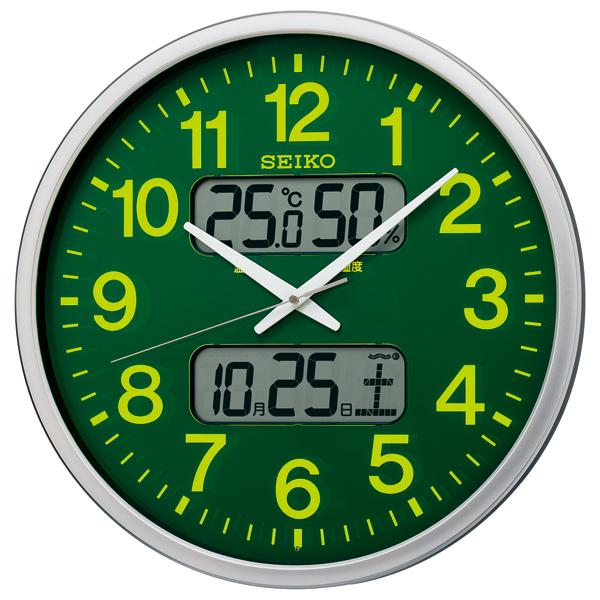 掛け時計 壁掛け時計 掛時計 カレンダー 温度湿度表示 温湿時計 電波時計 電波クロック セイコー SEIKO クロック KX237H
