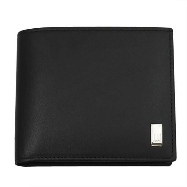 ダンヒル DUNHILL SIDECAR 二つ折り財布(小銭入れ有) QD3070A ブラック