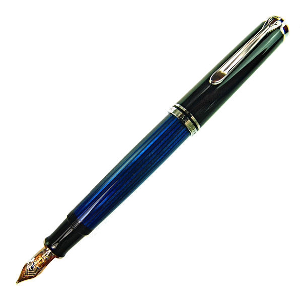 Pelikan ペリカン スーベレーン M805 ブルー縞 万年筆 ペン先 EF:極細 m805blueef