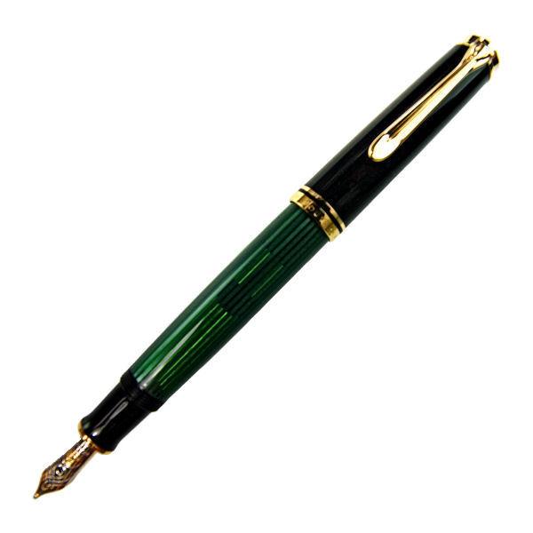 Pelikan ペリカン スーベレーン M600 グリーン縞 万年筆 ペン先 EF:極細 m600greenef
