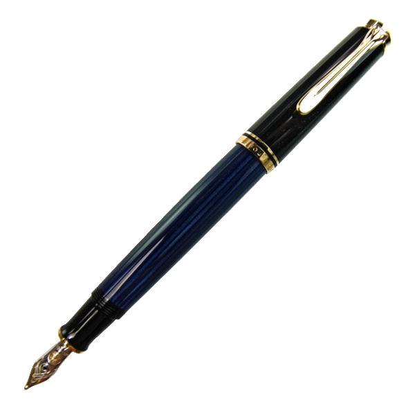Pelikan ペリカン スーベレーン M400 ブルー縞 万年筆 ペン先 F:細字 m400bluef