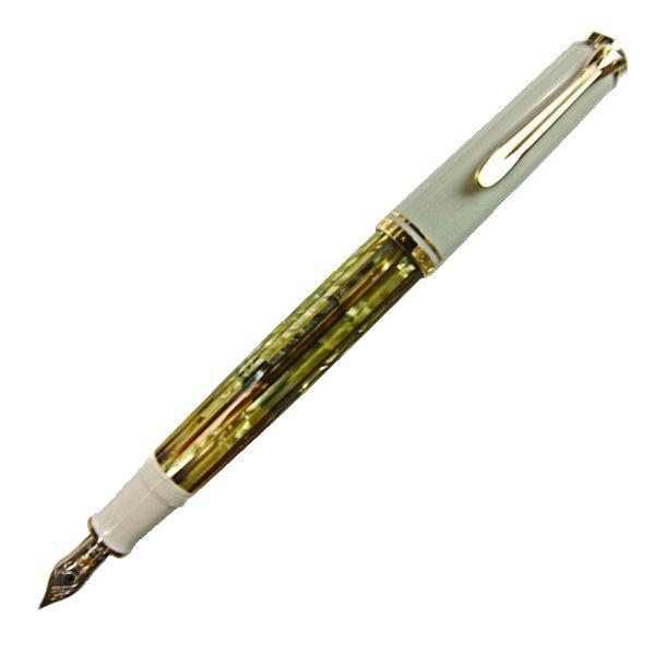 Pelikan ペリカン スーベレーン M400 ホワイトトートイス 万年筆 ペン先 F:細字 m400whitef