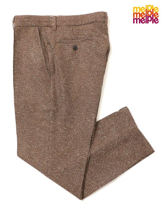 【melple】メイプル Beach Tailor Summer Tweed Pants/ビーチテイラーサマ―ツイードパンツ/リラックス/パンツ/スラックス/カリフォルニア/長ズボン/ビーチ/Beach/センタープリーツ/日本製【送料無料】