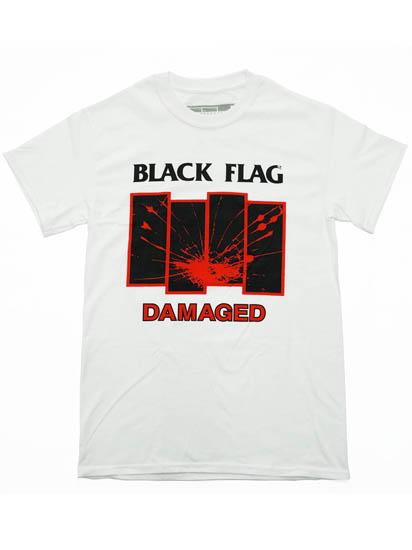 c62d922a6 Band T-shirt BLACK FLAG / DAMAGED black flag official band T-shirt hard