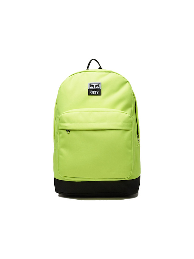 LAを代表するストリートブランド【正規品】 OBEY / DROP OUT JUVEE BACKPACK 2カラー (SAFETY GREEN/BLK) オベイ バックパック