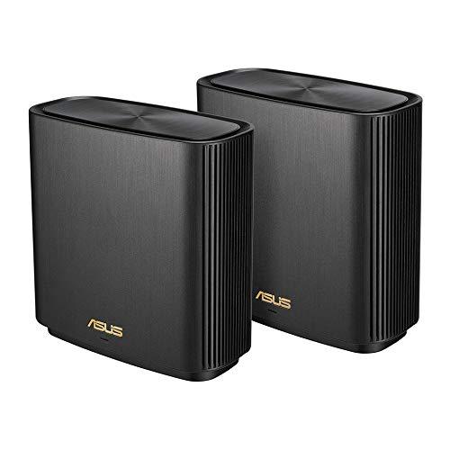 【新作からSALEアイテム等お得な商品満載】 ASUS ASUS WiFi 無線 ルーター WiFi6 1201+4804+574Mbps トライバンドメッシュ】【PS5/Nintendo ZenWiFi AX 1201+4804+574Mbps (XT8) (黒) 2 パック【510/6部屋以上】【PS5/Nintendo Switch/iPhone/android 対応】, 雪和スノーボードファクトリー:daa15f88 --- essexadvan.co.uk