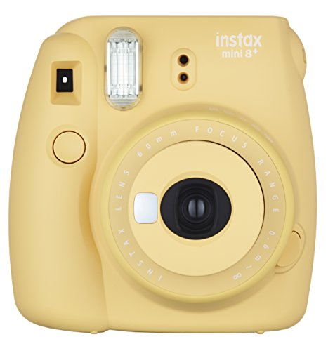 FUJIFILM インスタントカメラ チェキ instax 人気ブランド多数対象 mini8プラス 接写レンズ 大好評です 8P INS 純正ハンドストラップ付き ハニー HONEY MINI