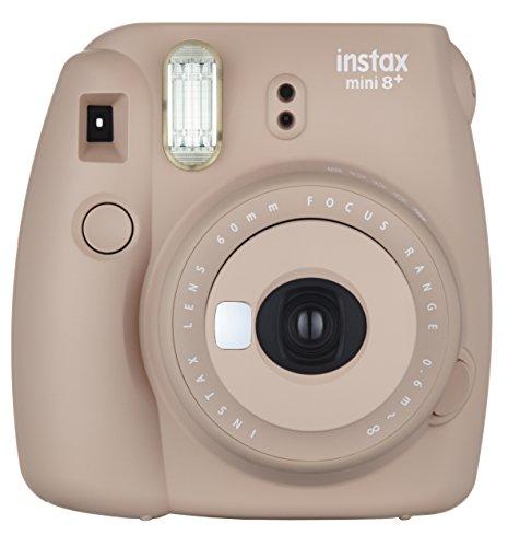 FUJIFILM [宅送] インスタントカメラ チェキ instax mini8プラス 接写レンズ 激安セール INS 純正ハンドストラップ付き COCOA MINI ココア 8P