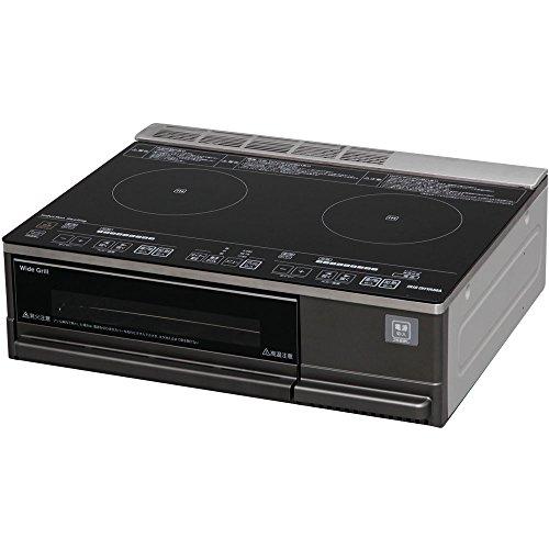 アイリスオーヤマ IHクッキングヒーター 2口 IHコンロ グリル タイプ 据置型 全品送料無料 ブラック 200V 音声ガイド付 好評受付中 IHC-SG221-VB