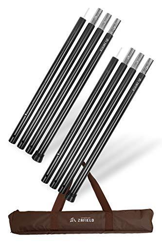 毎日がバーゲンセール ZAFIELD タープポール アルミ 高品質 テント ポール 高さ調整可能120~280cm 直径3.3cm ブラック 2セット
